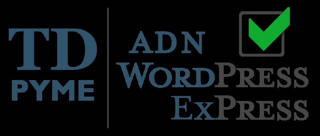 Logo TDPYME ADN WordPress ExPress